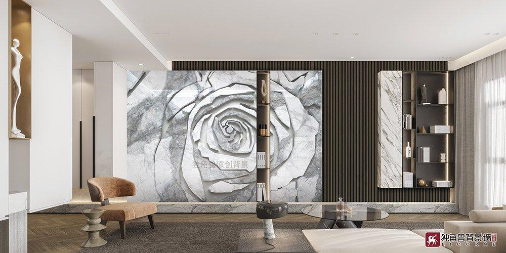 独角兽分享:电视岩板背景墙装饰的四个技巧