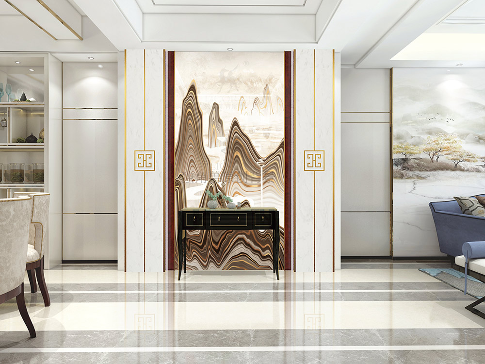 独角兽背景墙:简约时尚的幻晶瓷背景墙,爱了爱了
