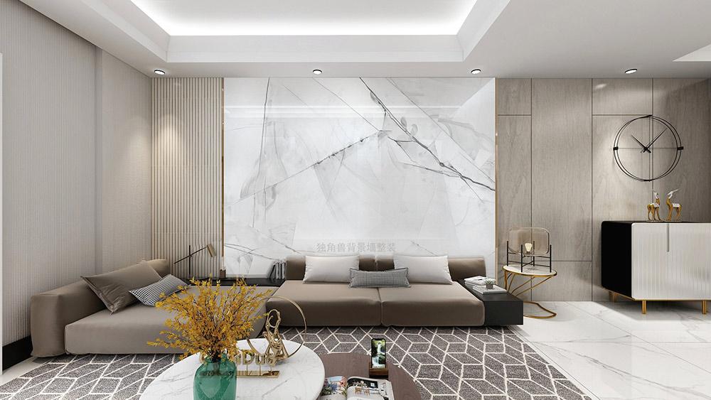 幻晶瓷工艺大板电视背景墙,心如鹭翔静湖之上!