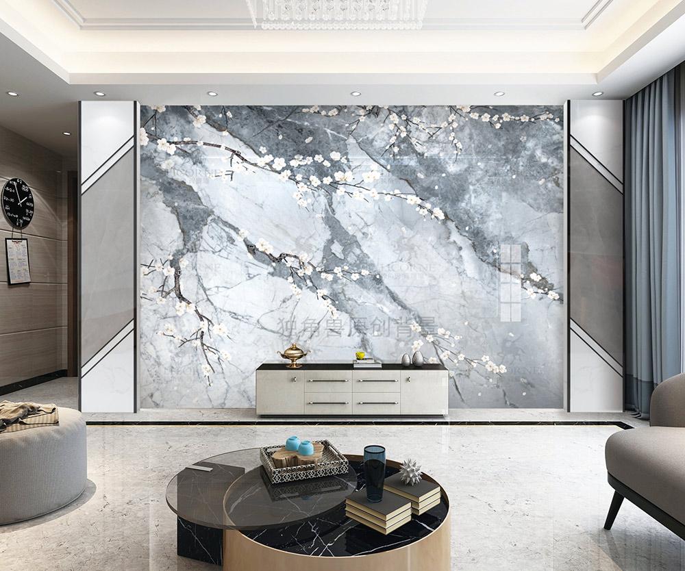 独角兽背景墙:简约的电视背景墙设计,优雅的客厅背景装饰画!